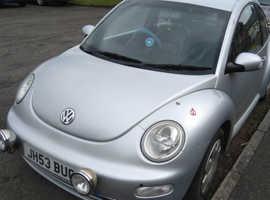 Volkswagen Beetle, 2003 (53) Silver Hatchback, Manual Diesel, 145,500 miles