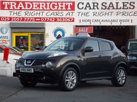 2011/61 Nissan Juke 1.6 Acenta Premium finished in Graphite Grey Metallic. 60,488 miles