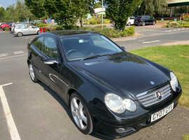Mercedes C CLASS, 2007 (07) Black Coupe, Manual Petrol, 67,780 miles