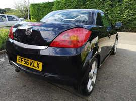 Vauxhall Tigra, 2007 (56) Black Convertible, Manual Petrol, 115,461 miles