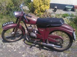 James Comet classic British built motorcycle