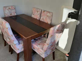 Large Dining Table with 6x Chairs