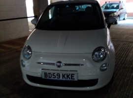 Fiat 500, 2009 (59) white hatchback, Semi auto Petrol, 28612 miles