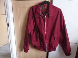 red style harrington jacket mens