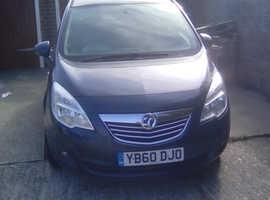 Vauxhall Meriva, 2011 (60) Blue MPV, Automatic Diesel, 104,583 miles