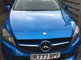Mercedes A-CLASS, 2016 (65) Blue Hatchback, Automatic Diesel, 29,800 miles