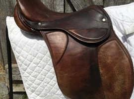 "Pony saddle: 17"", GP, brown nice soft leather"