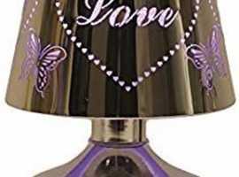 AROMA ACCESSORIES MULTI COLOUR LED LAMP ELECTRIC WAX MELT BURNER LOVE & BUTTEFLIES DESIGNOh