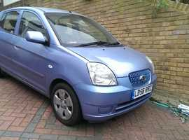 Kia Picanto, 2007 (56) Blue Hatchback, Manual Petrol, 74,000 miles