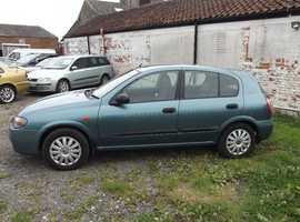 Nissan Almera, 2003 (03) Blue Hatchback, Manual Petrol, 86,000 miles