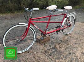 VINTAGE TANDEM BICYCLE REFURBISED SMART FN, DISPLAY, COLLECTOR, SEE VIDEO