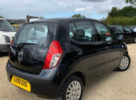 Hyundai i10, 2009 (09) Black Hatchback, Manual Petrol, 94,203 miles