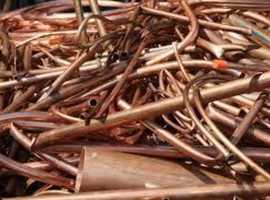 PLUMBER ELECTRICIANS DEMO SCRAP METAL WANTED WE BUY ALL BRASS COPPER TANKS TUBE BRIGHT WIRE CABLE