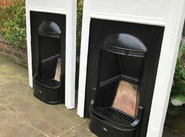 X2 matching cast iron fireplaces