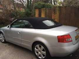 Audi A4, 2005 (55) Silver Convertible, Cvt Petrol, 94,397 miles