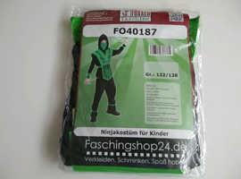 NEW Ninja Costume For Children Green 122 - 128cm Role Play Combat Fancy Dress