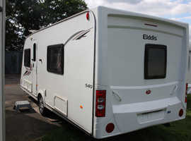 Elddis Odyssey 540 2011 4 Berth Fixed Bed Caravan + Motor Movers + Winter Cover