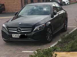 Mercedes C CLASS, 2016 (66) Black Saloon, Automatic Petrol, 46,000 miles