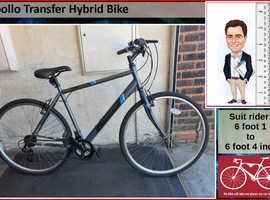 Apollo Transfer Hybrid Bike. 18 speed. 700C wheels.