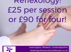 Reflexology sessions, only £25! Leverington, Wisbech Cambs.