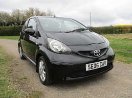 Toyota Aygo, 2006 (06) Black Hatchback, Manual Petrol, 72,237 miles