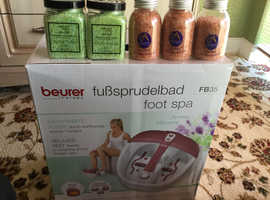 Beurer foot spa and salts