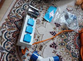 Caravan or motor home electric hook up items