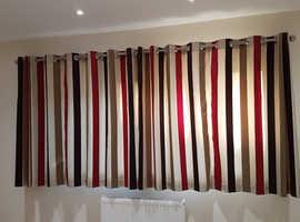 Faux silk striped curtains
