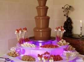 Party  Items FOR HIRE - Chocolate Fountain, Chair Covers & Sashes, Candelabra, Popcorn Machine and lots more.  Based in Tonbridge