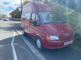 AUTO FORD TRANSIT MOTOR HOME 1.8D..75K..RED..COME WITH FULL YEAR MOT