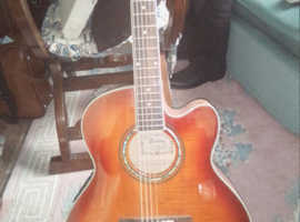 hanez electric guitar plus amplifier and case
