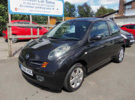 Nissan Micra, 2004 (04) Black Hatchback, Manual Petrol, 118,000 miles