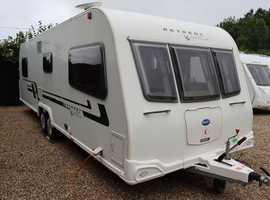 Bailey Retreat Willow 2012 4 Berth Fixed Island Bed Twin Axle Caravan + Large Isabella Awning + One Owner from New + 3 Months Warranty Included
