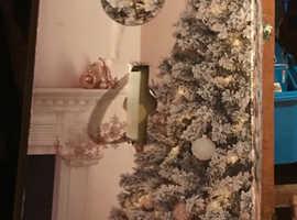 7ft flocked christmas tree
