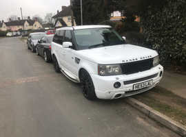 fully loaded Rover Range Rover Sport, 2007 (PRIVATE PLATES) White Estate, Automatic Diesel,