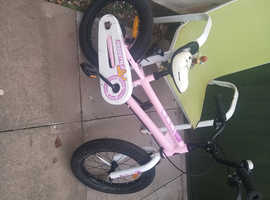 Little girls bike free to collect