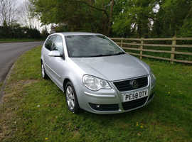 Volkswagen Polo, 2008 (58) Silver Hatchback, Manual Petrol, 118,600 miles