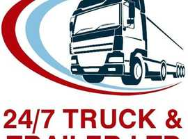 24/7 Truck & Trailer is a small family run light and heavy commercial vehicle workshop and roadside assistance. We cover Lincolnshire & East Yorkshire
