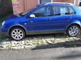 Volkswagen Polo, 2004 (54) Blue Hatchback, Manual Petrol, 120,000 miles