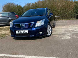 Toyota Avensis, 2009 (09) Blue Estate, Manual Diesel, 137,510 miles