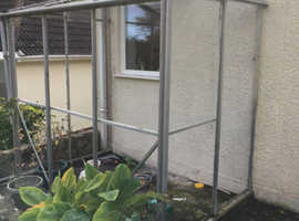 Already dismantled lean-to greenhouse, free to collector
