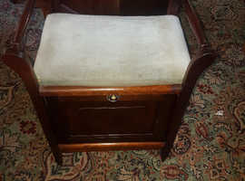 Antique vintage box storage piano stool