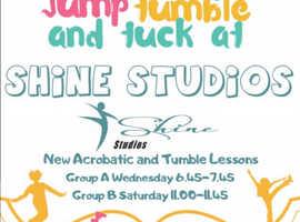ACRO TUMBLE CLASSES ARE COMING TO SHINE STUDIOS!