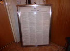 "Genuine ""Articles of War"" Falklands war 1982"