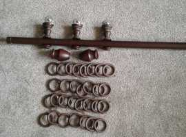 Wooden Curtain Pole & fittings