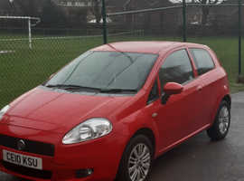 Fiat Grande Punto, 2010 (10) Red Hatchback, Manual Petrol, 73,000 miles