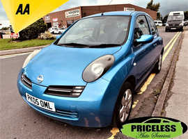 Nissan Micra, 2005 (05) Blue Hatchback, Automatic Petrol, 95,504 miles