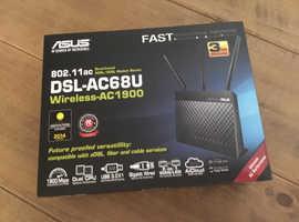 Asus DSL-AC68U duel-band Adele/vdsl modem router