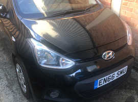 Hyundai i10, 2016 (66) Black Hatchback, Manual Petrol, 50,108 miles