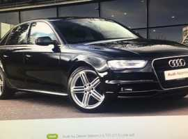 Audi A4, 2015 (65) Black Saloon, Manual Diesel, 42,105 miles